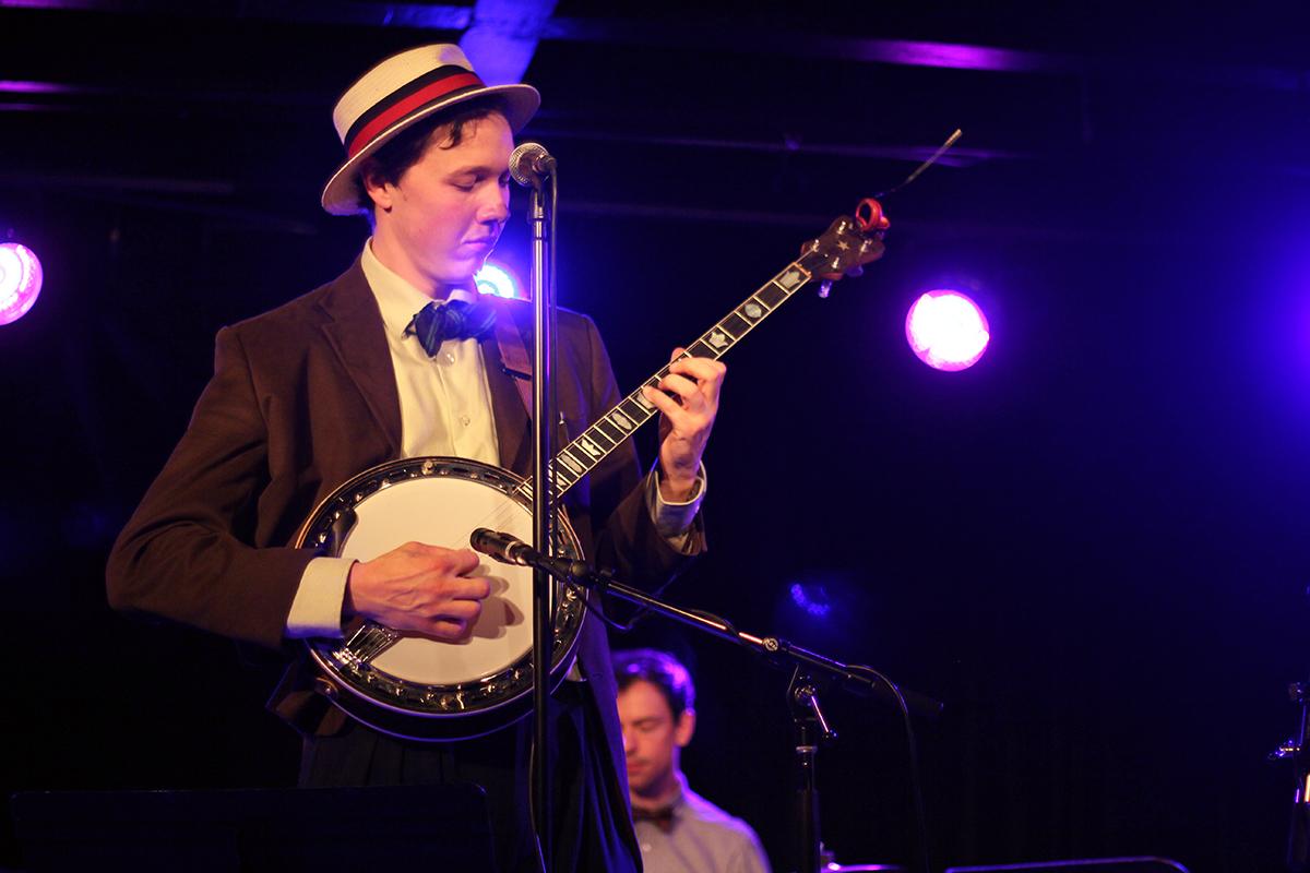 The Arntzen Brothers play the Bassment in Saskatoon, with Arnt Arntzen on banjo. Dummer Andrew Miller joined the Arntzens on stage. Photo taken Tuesday, April 23, 2013.