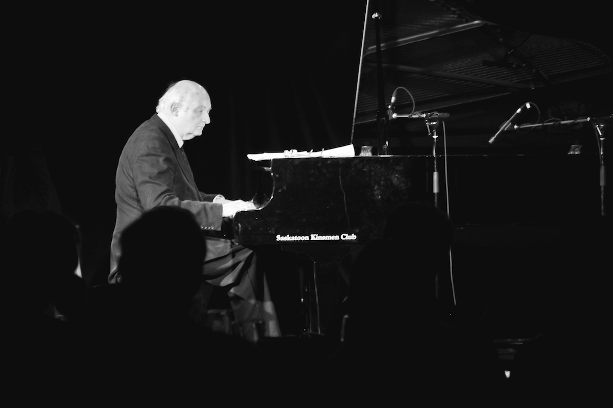 Ron Paley live at the Bassment. The audience looks on as Paley plays solo piano. Photo taken Saturday, May 11, 2013.