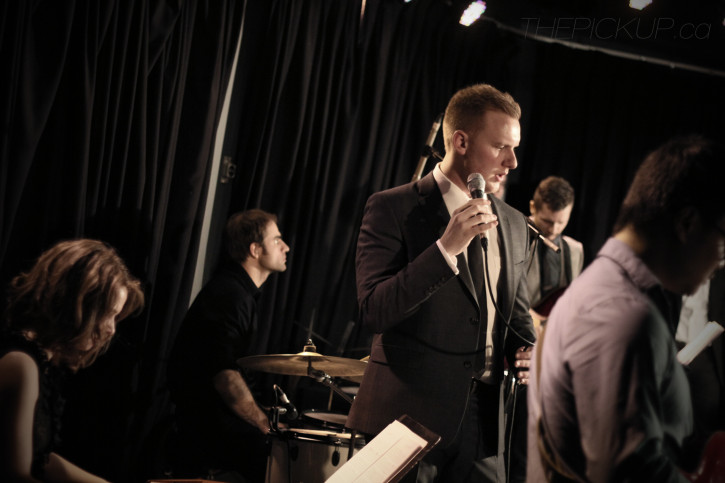 Drew Tofin and his big band perform live on stage at Louis' Pub on Friday, November 15, 2013. Photo by Bryn Becker/The Pickup.